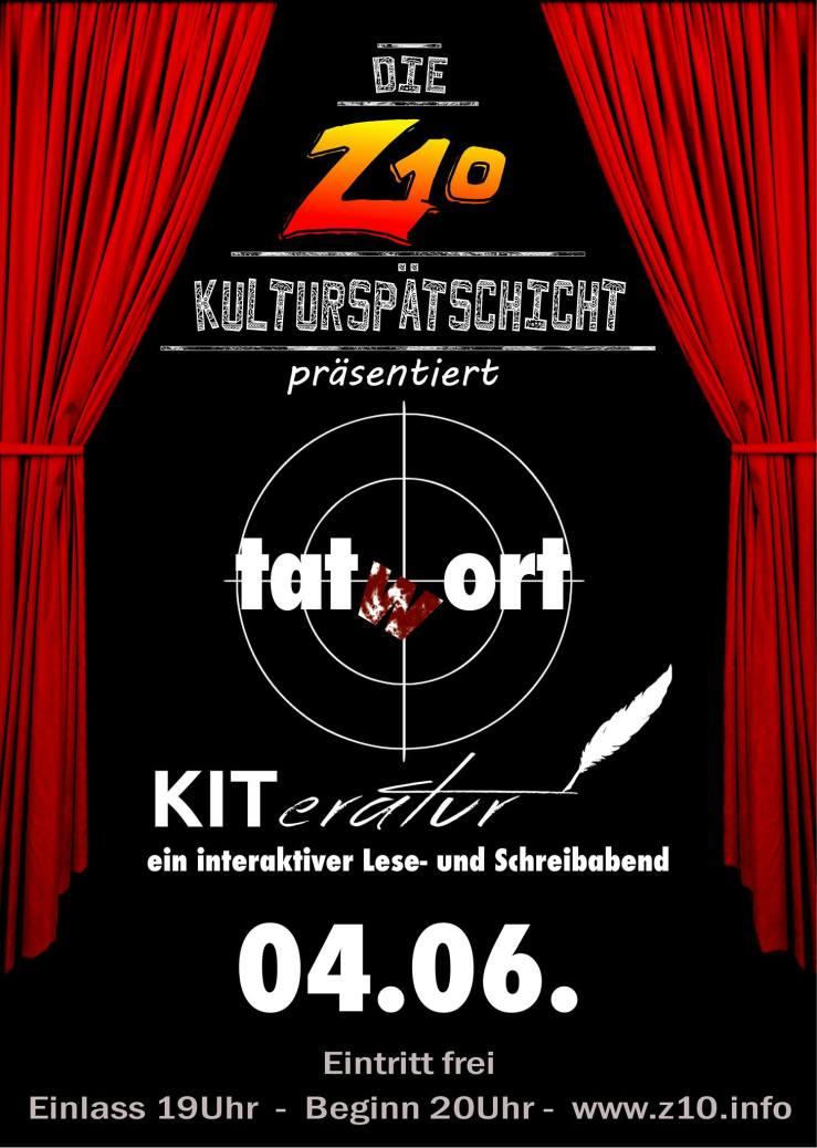 Veranstaltungsplakat KITeratur TatWort