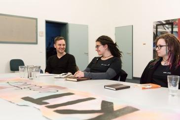 Bild Hochschulgruppe kiteratur für clickit foto: patrick langer/kit 02