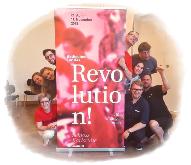 Gruppenbild KITeratur - Ausstellung Revolutionen - Badisches Landesmuseum