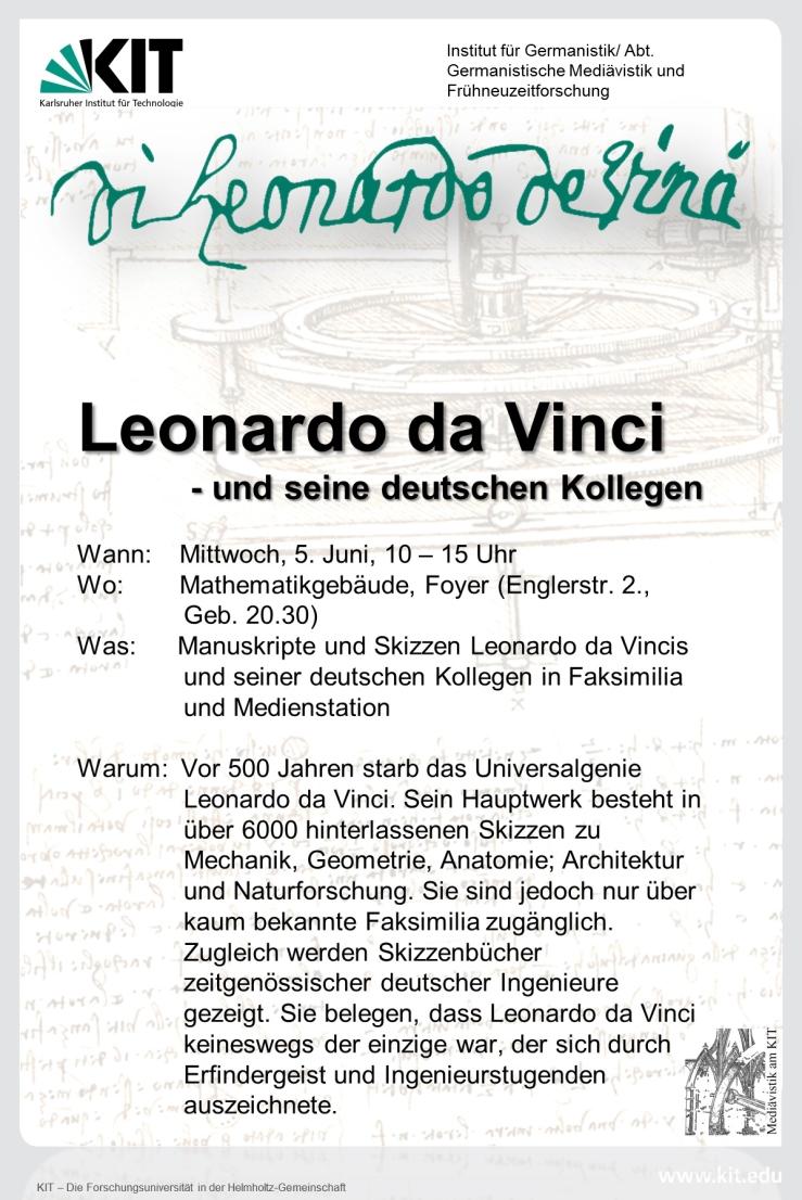Bild Flyer zum Leonardo-Tag am KIT