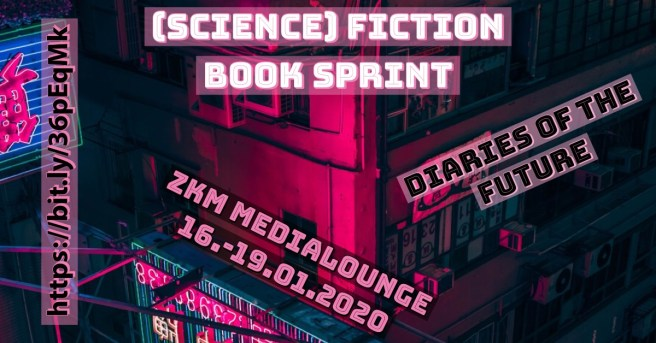 Bild Science Fiction Book Sprint Karlsruhe ZKM